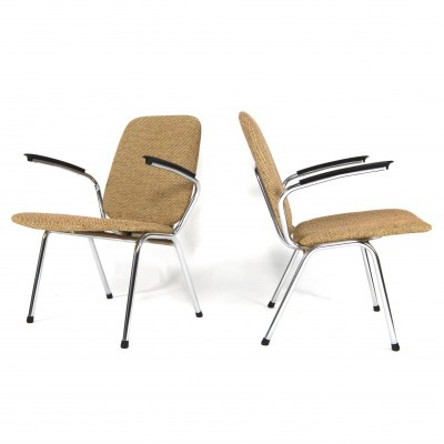 2 arm chairs from the sixties by unknown designer for Gispen
