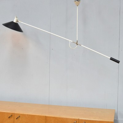 Counterweight hanging lamp by J. Hoogervorst for Anvia Almelo, 1950s