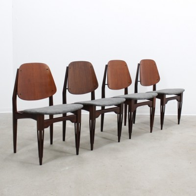 Set of 4 dinner chairs from the fifties by unknown designer for Proserpio