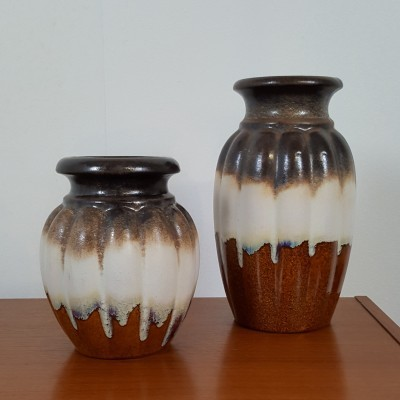 Set of 2 vases from the sixties by unknown designer for unknown producer