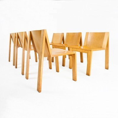 6 SE15 dinner chairs from the fifties by Pierre Mazairac & Karel Boonzaaijer for Pastoe