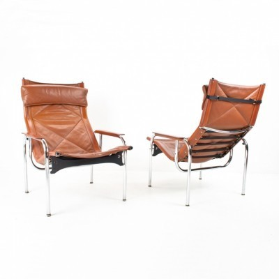 Set of 2 lounge chairs from the sixties by Hans Eichenberger for Strässle
