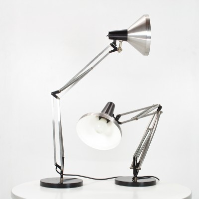 2 desk lamps from the sixties by H. Busquet for Hala Zeist