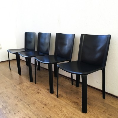 Set of 4 dinner chairs from the seventies by Willy Rizzo for Cidue