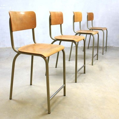24 stools from the sixties by unknown designer for Tubax