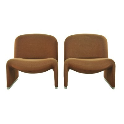 2 Alky lounge chairs from the sixties by unknown designer for Castelli