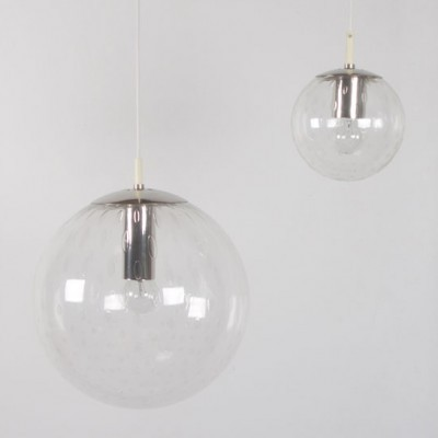 10 Globe hanging lamps from the sixties by unknown designer for Raak Amsterdam