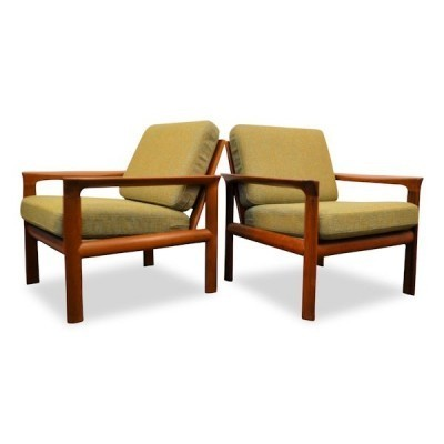Set of 2 lounge chairs from the sixties by Sven Ellekaer for Komfort