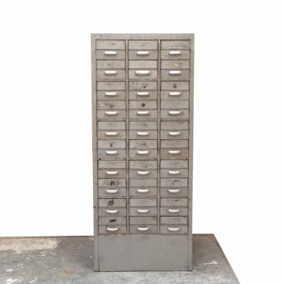 Industrial Filing Cabinet chest of drawers from the fifties by unknown designer for unknown producer
