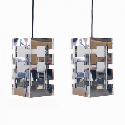 Set of 2 hanging lamps from the sixties by J. Hoogervorst for Anvia Almelo