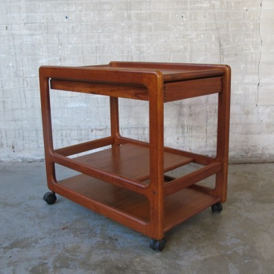 Serving trolley by Kai Kristiansen for Vildbjerg Møbelfabrik, 1960s