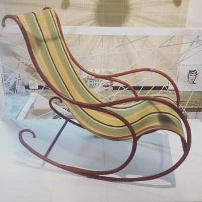 Rocking chair from the fifties by unknown designer for Luigi Zurla & Figli