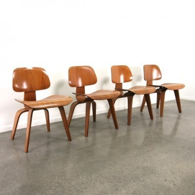 4 x DCW dinner chair by Charles & Ray Eames for Herman Miller, 1950s