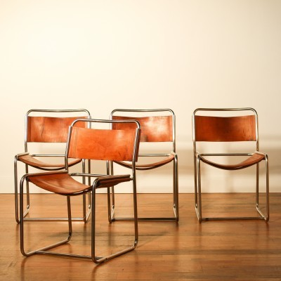 Set of 4 dinner chairs from the seventies by Paul Ibens & Claire Bataille for Spectrum