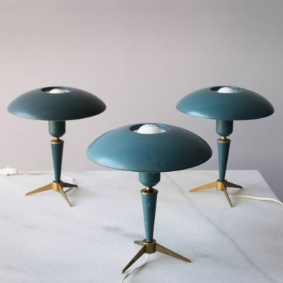 Set of 3 Tripod desk lamps by Philips, 1950s