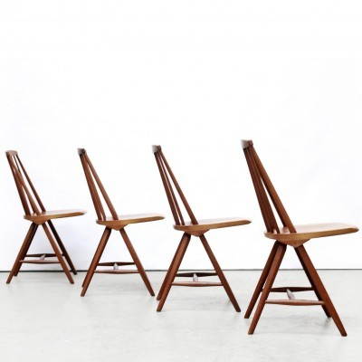 4 SH45 dinner chairs from the sixties by Yngve Ekström for Pastoe