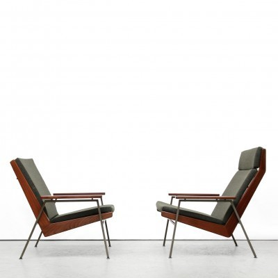 2 Lotus arm chairs from the fifties by Rob Parry for Gelderland