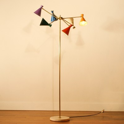 Floor lamp from the fifties by unknown designer for Arteluce