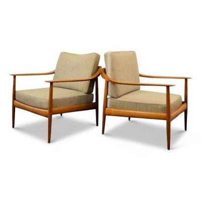 Set of 2 lounge chairs from the fifties by Wilhelm Knoll for Knoll