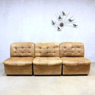 Set of 5 sofas from the sixties by unknown designer for De Sede