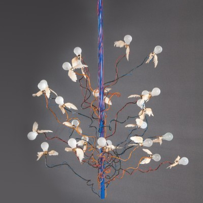 Birds Birds Birds hanging lamp by Ingo Maurer, 1990s