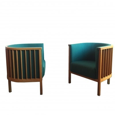2 Neptunus lounge chairs from the nineties by Ake Axelsson for Gärsnäs