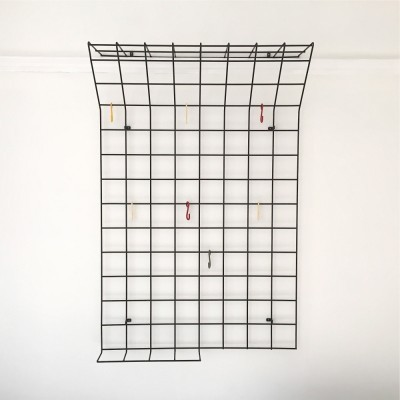 Geometric Grid coat rack from the fifties by Karl Fichtel for unknown producer