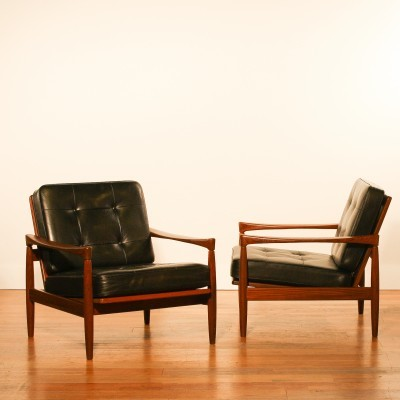 Set of 2 Kolding lounge chairs from the sixties by Erik Wørts for Ikea