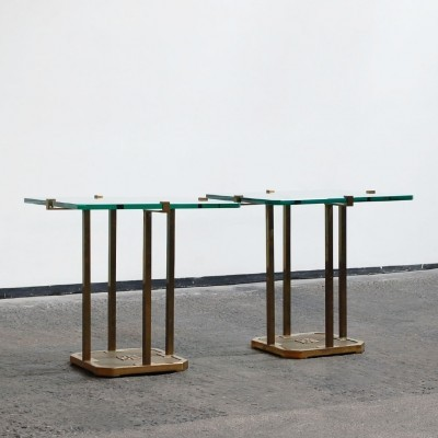 Set of 2 side tables from the seventies by Peter Ghyczy for Ghyczy