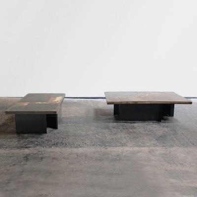 Pair of coffee tables by Paul Kingma for Kingma, 1980s