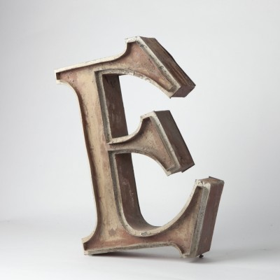 Volumetric Letters from the sixties by unknown designer for unknown producer