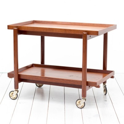 Serving trolley from the sixties by Poul Hundevad for Hundevad Møbelfabrik