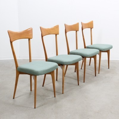4 dinner chairs from the forties by Ico Parisi for unknown producer