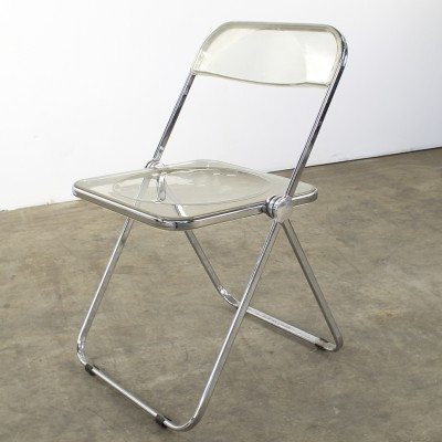 Set of 4 dinner chairs from the seventies by Giancarlo Piretti for Castelli