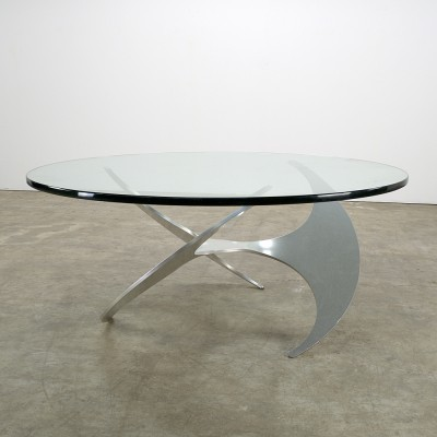 Propeller coffee table by Knut Hesterberg for Ronald Schmitt, 1970s