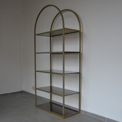 Brass Etagere cabinet, 1970s
