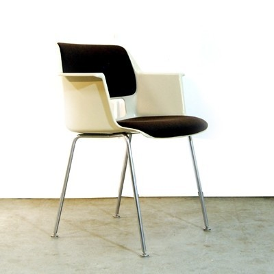 Set of 4 Model 2225 dinner chairs by André Cordemeyer for Gispen, 1960s