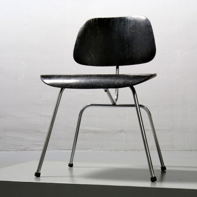 DCM Dining Chair Metal dining chair by Charles & Ray Eames for Herman Miller, 1950s