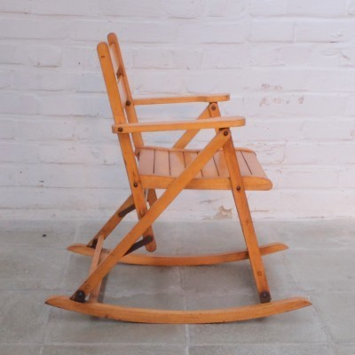 Rocking chair children furniture from the sixties by unknown designer for Nevco