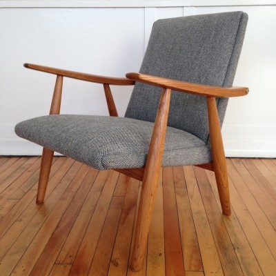 GE-260 lounge chair from the sixties by Hans Wegner for Getama