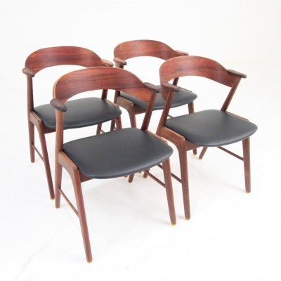 Set of 4 dinner chairs from the fifties by Kai Kristiansen for Korup Stolefabrik