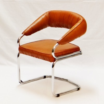 6 x Giotto Stoppino arm chair, 1970s
