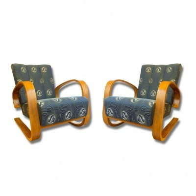 Pair of Miroslav Navrátil arm chairs, 1930s