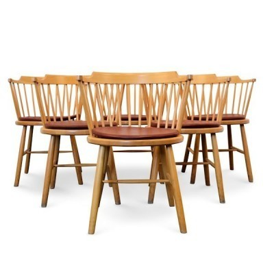 Set of 6 Model 3249 dinner chairs by Børge Mogensen for Fredericia, 1960s