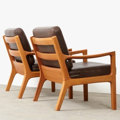 Pair of Senator lounge chairs by Ole Wanscher for Cado, 1950s