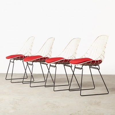 Set of 4 SM05 dinner chairs from the fifties by Cees Braakman for Pastoe