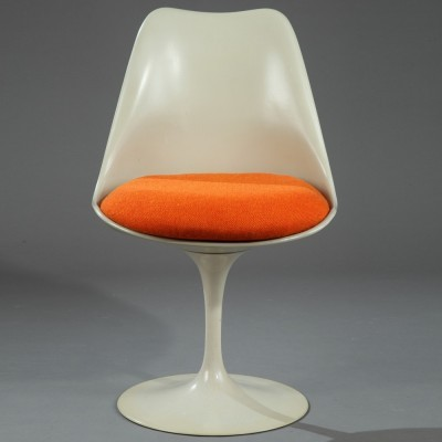 Set of 3 Tulip dinner chairs from the fifties by Eero Saarinen for Knoll