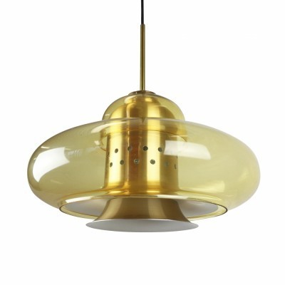 Space age pendant light from the seventies by Dijkstra Lampen