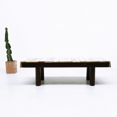 Tournesol coffee table from the sixties by Roger Capron for Capron