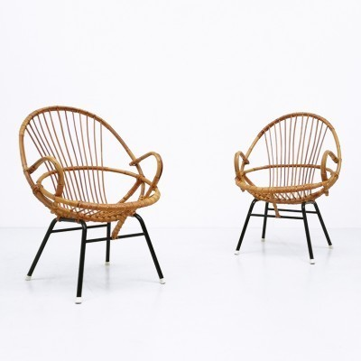 Set of 2 arm chairs from the sixties by Dirk van Sliedregt for Rohé Noordwolde